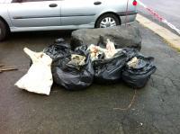 10 sacs poubelle de détritus divers