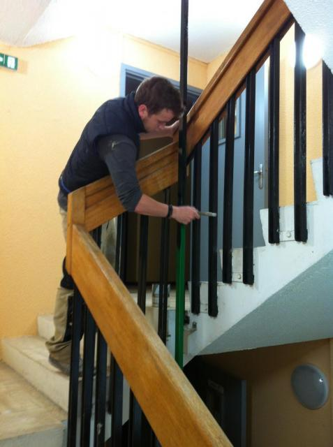 rampe  peinture tube vert