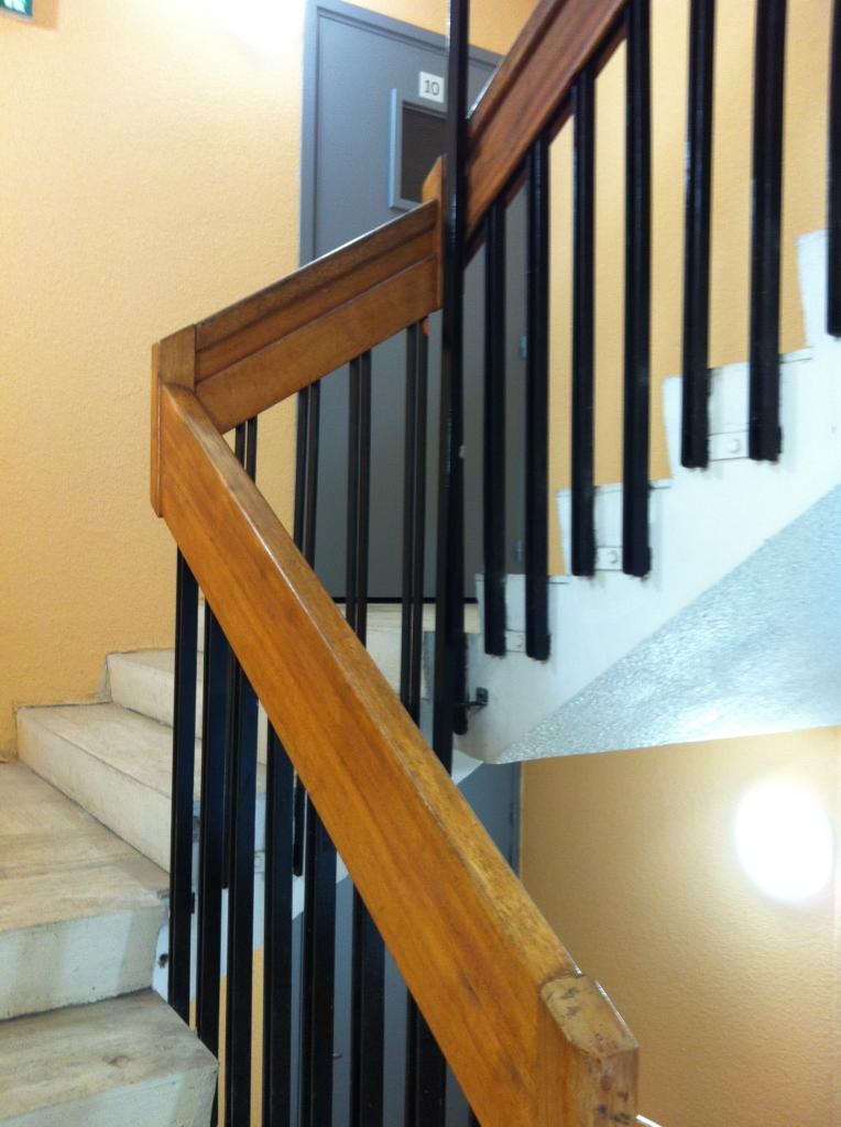 rampe  + 1 couche lazure
