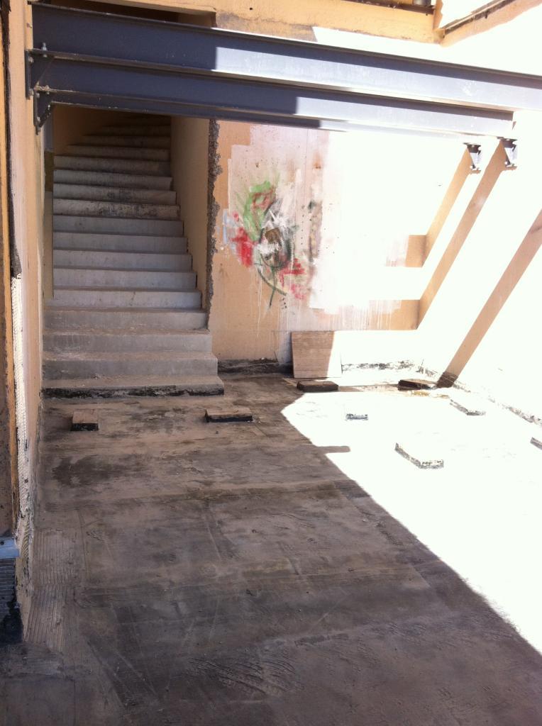 la sortie escalier sud nettoyée