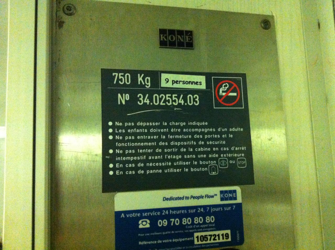 ascenseur affichage