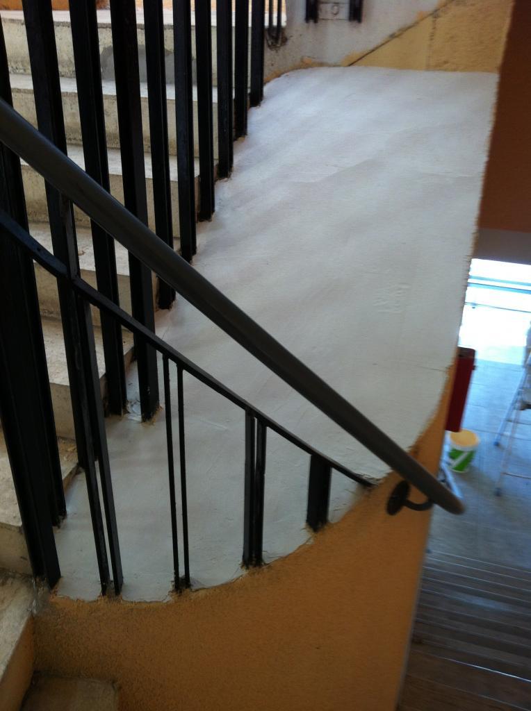 centre escalier en cours de restauration