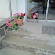 entrée fleurie