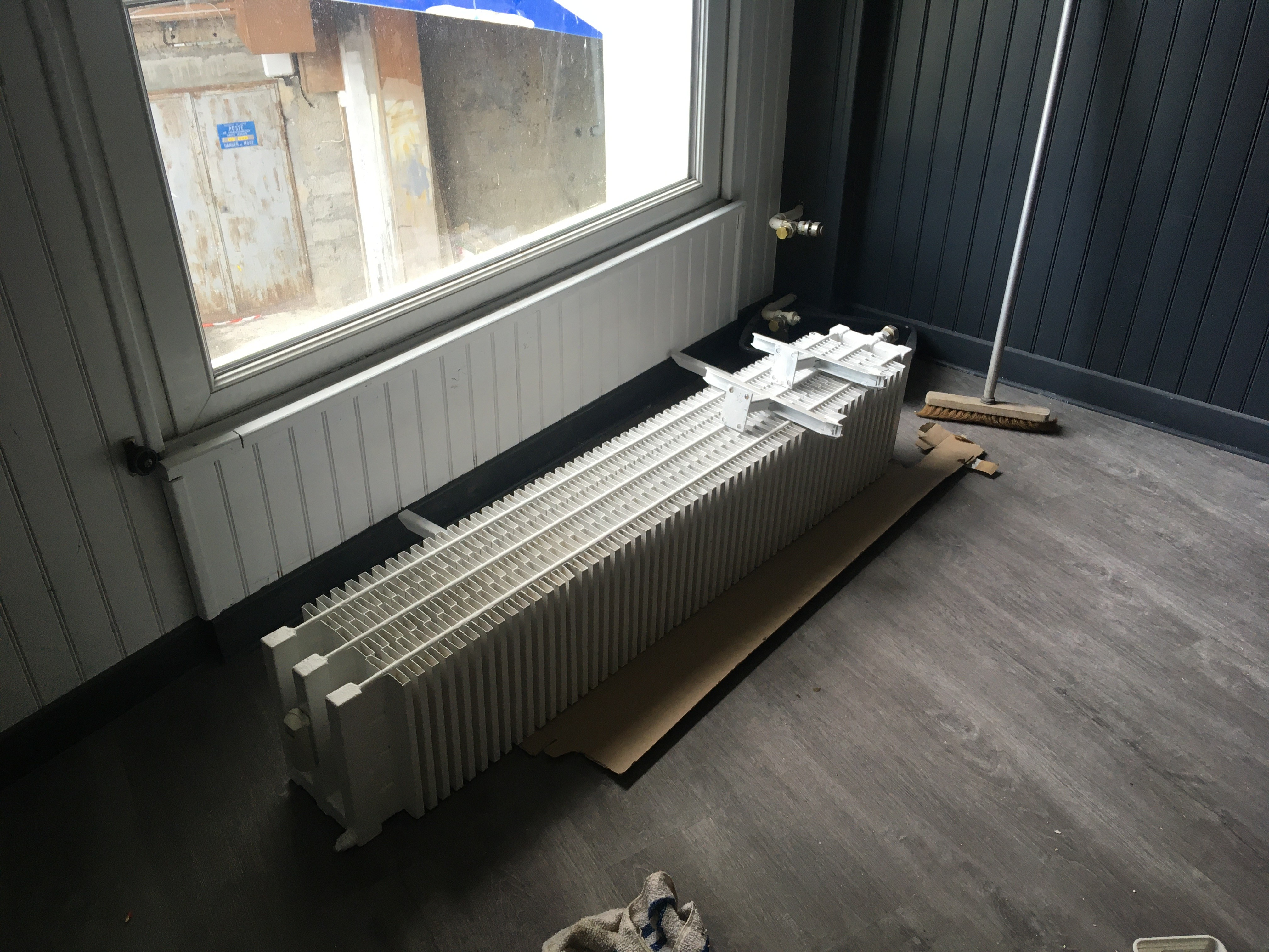 radiateur repeint