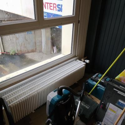radiateur nettoyé et  repeint