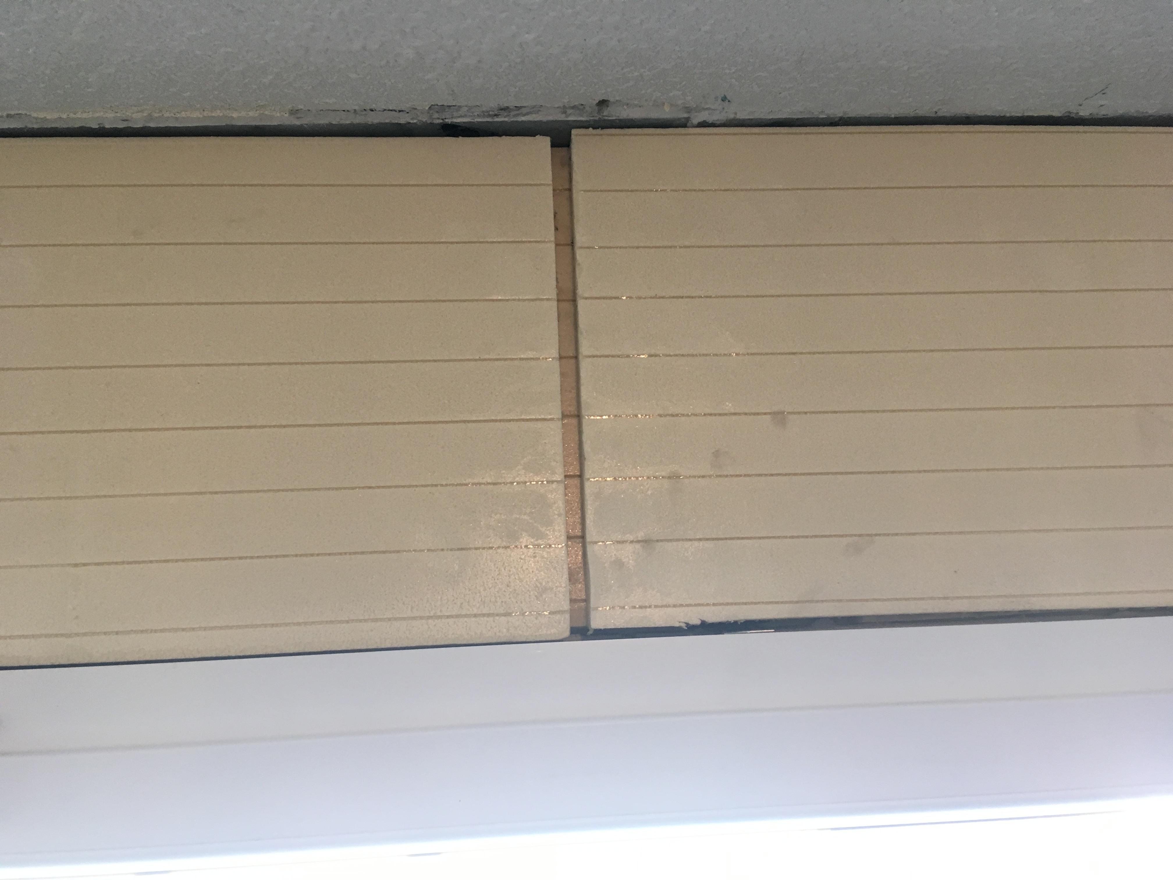 islation au dessus fenêtre bout de couloir