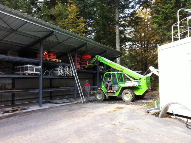 le nouveau local de la SAEM pour ranger les accessoires des pistes