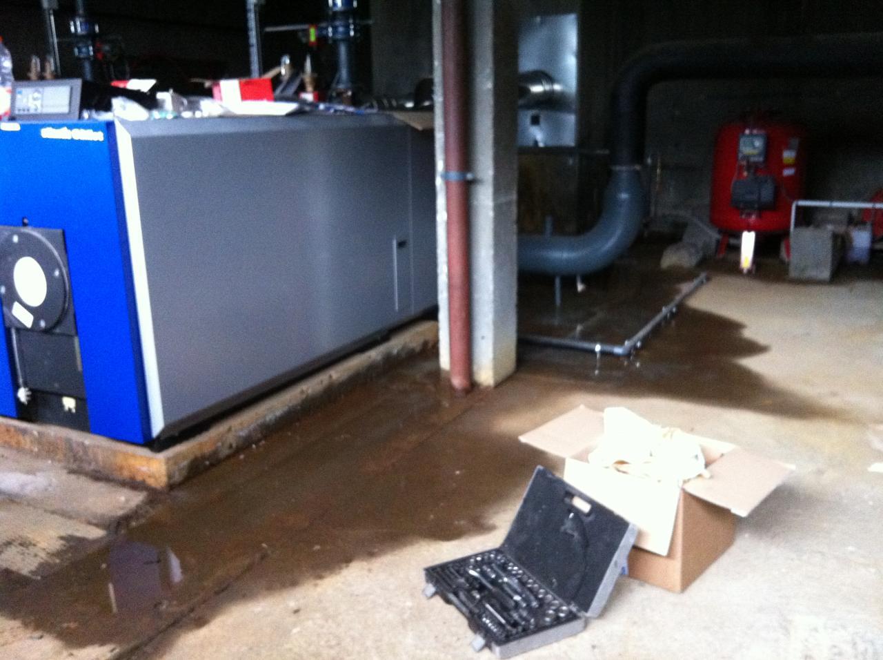 chaufferie infiltrations d'eau