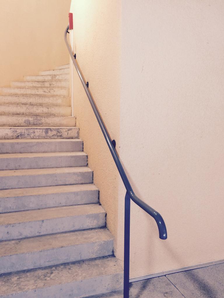 la rampe du nouvel escalier