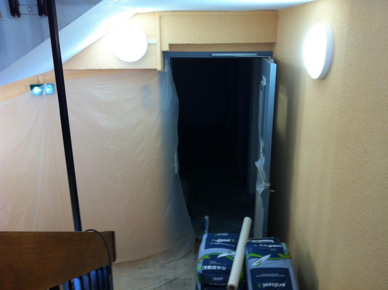 protection des portes et de l'escalier
