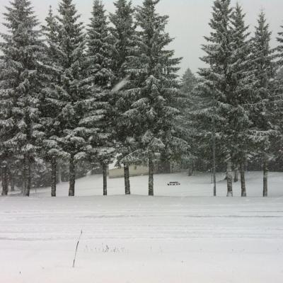 Première neige octobre 2013