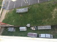 Les murets des balcons EST et OUEST