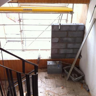 construction muret au 2ème