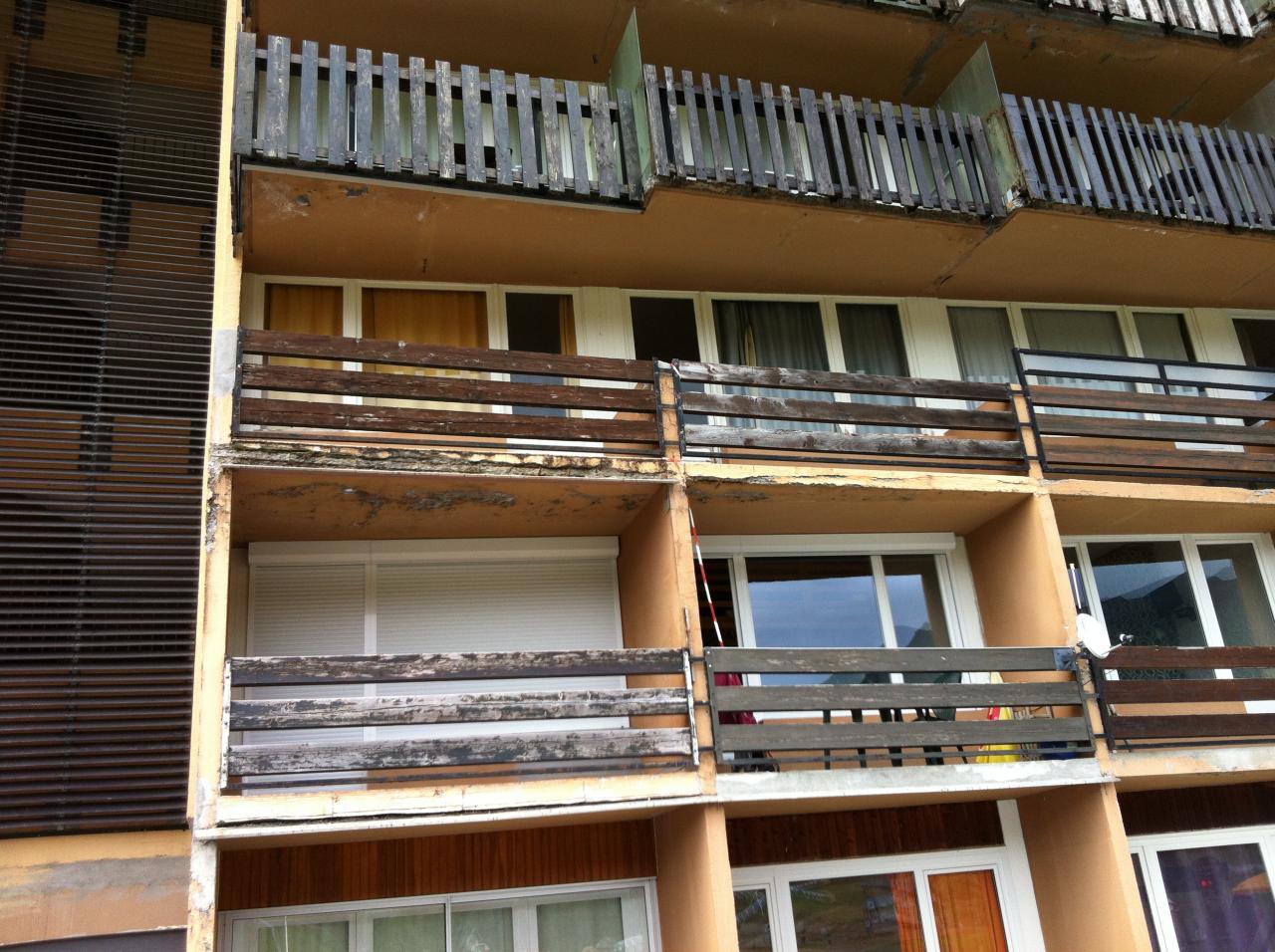 L les balcons ne sont plus au top !