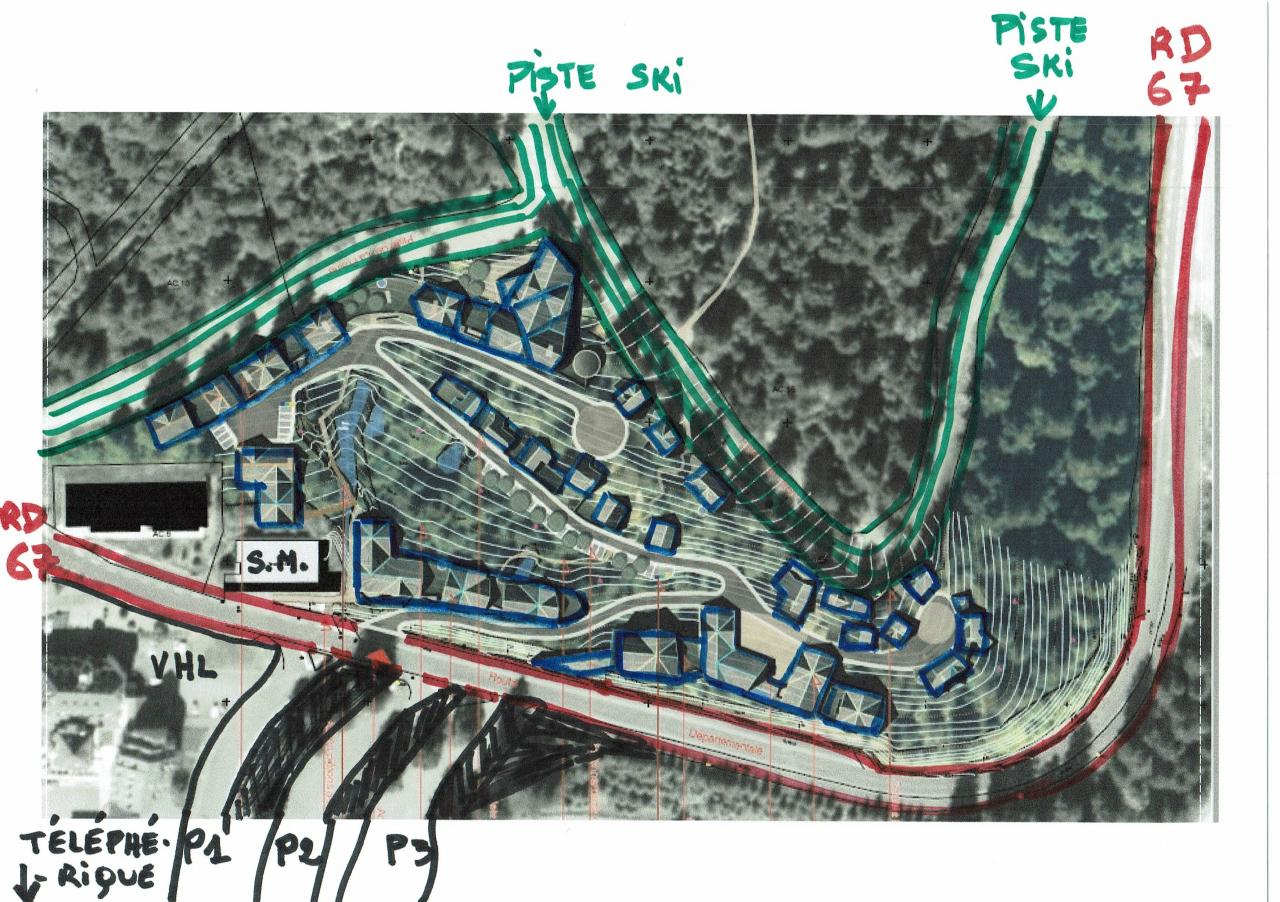 Puy Masseboeuf plan composition surligné
