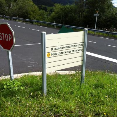 Signalétique dans la station