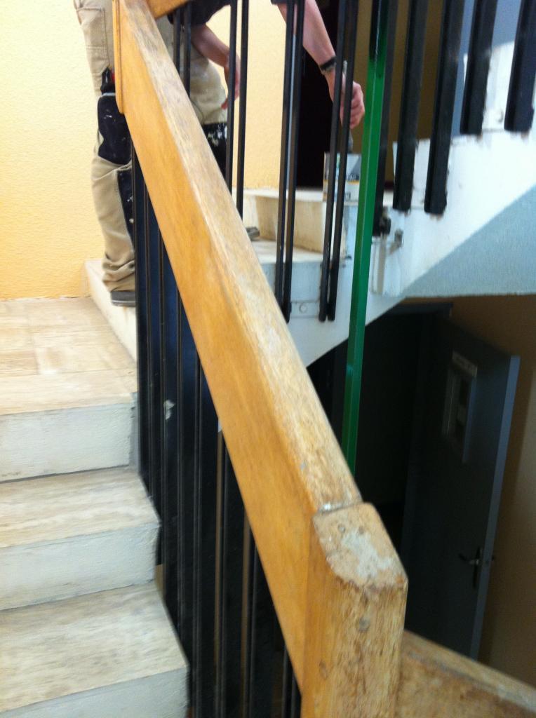rampe  bois avant