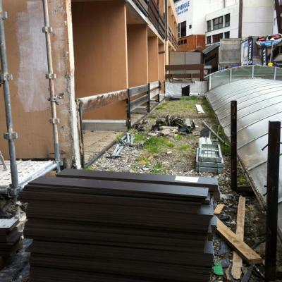 6 la terrasse du RDC haut en chantier
