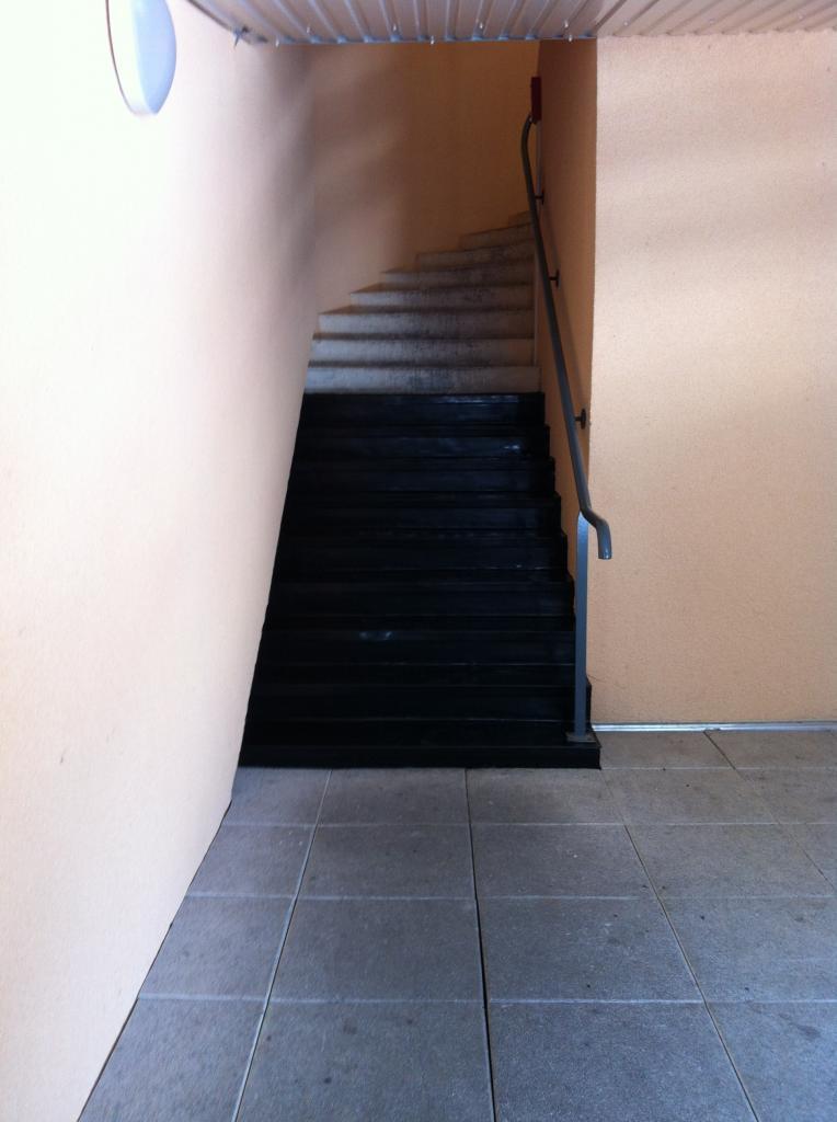 les nouvelles marches de l'escalier sud