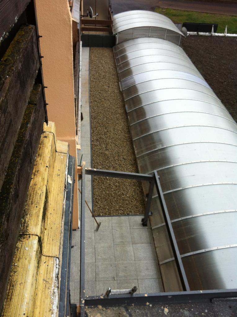 terrasse impaire avec graviers