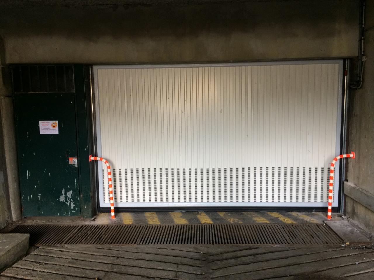 Nouveau portail du parking Epie : finitions terminées