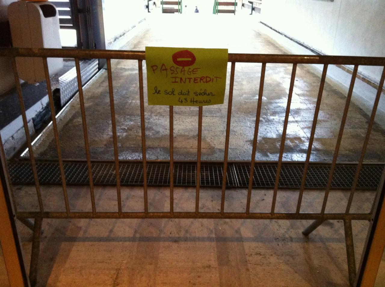 accès interdit mercredi soir