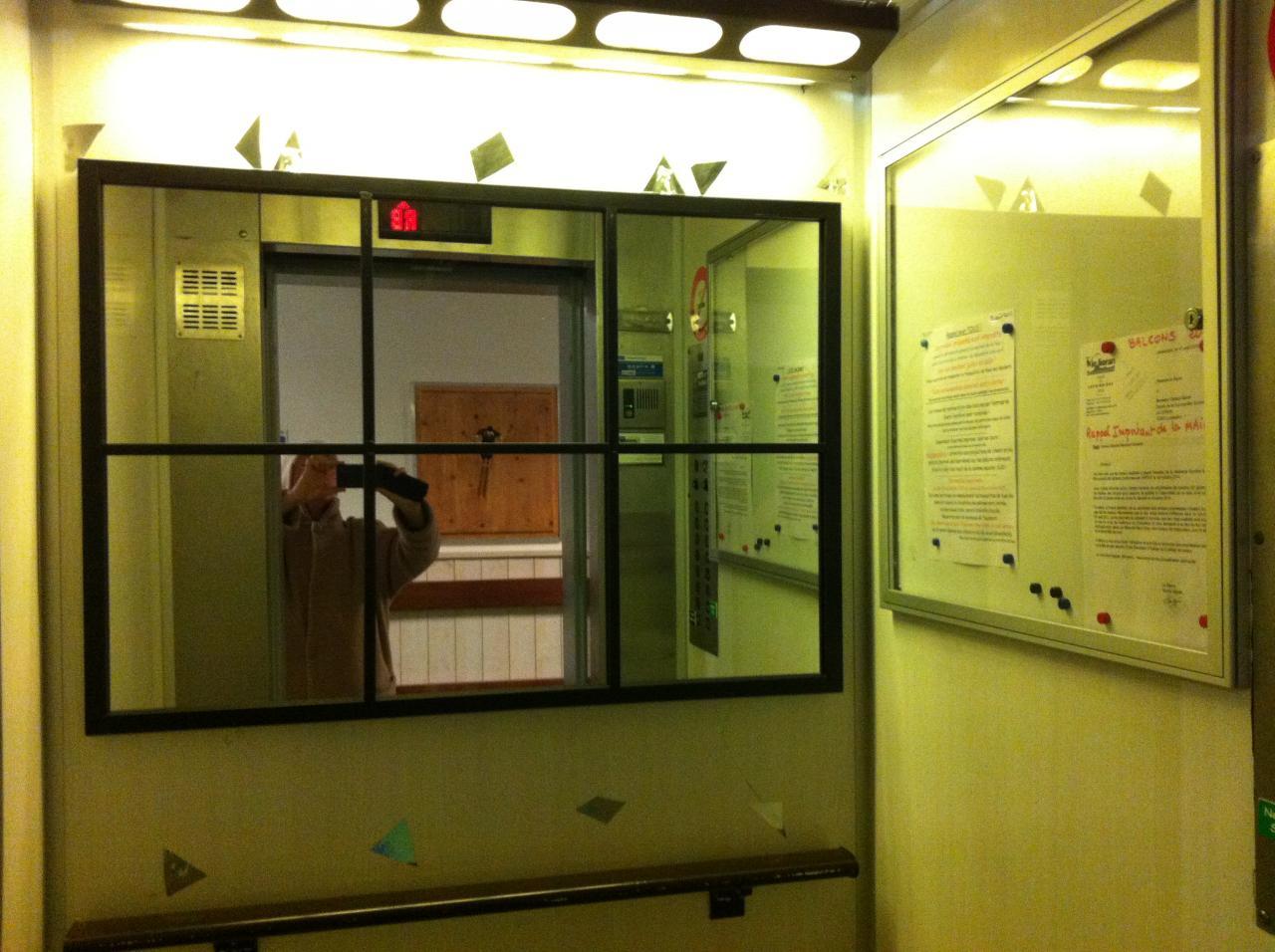 miroir petit ascenseur