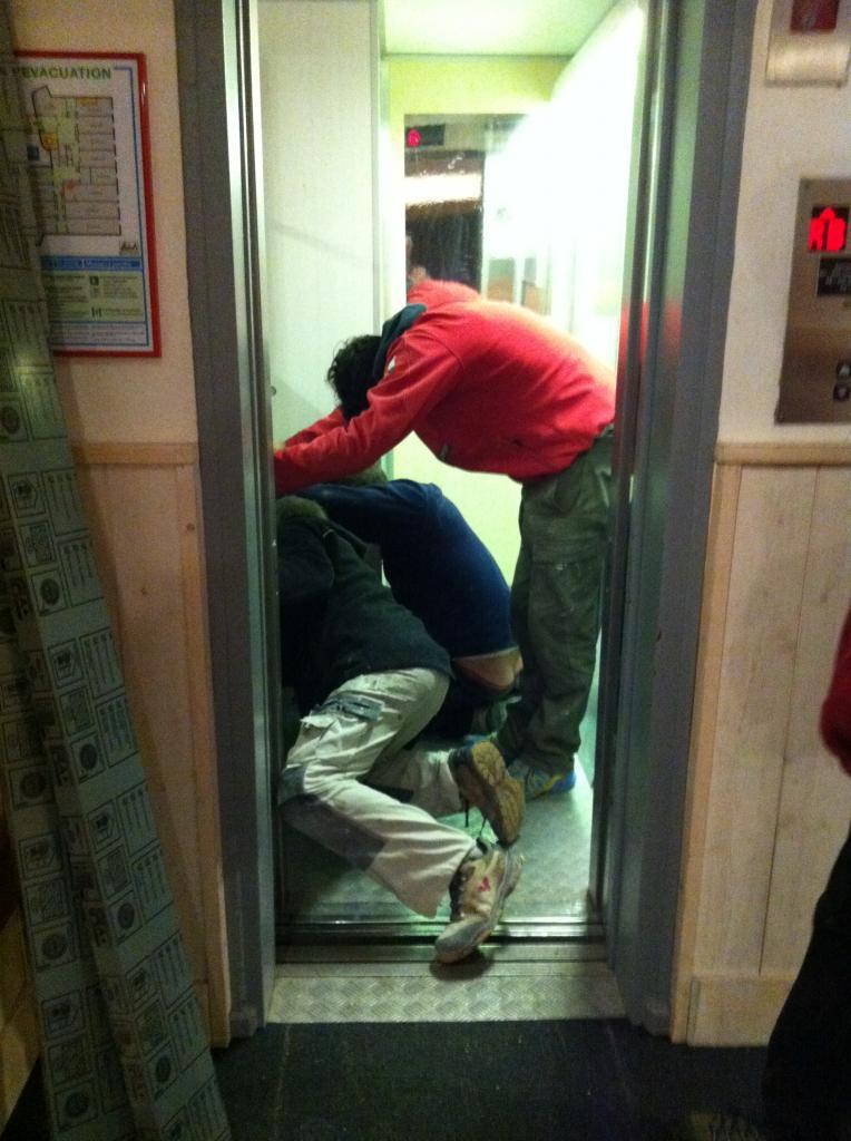 amélioration des parois de l'ascenseur
