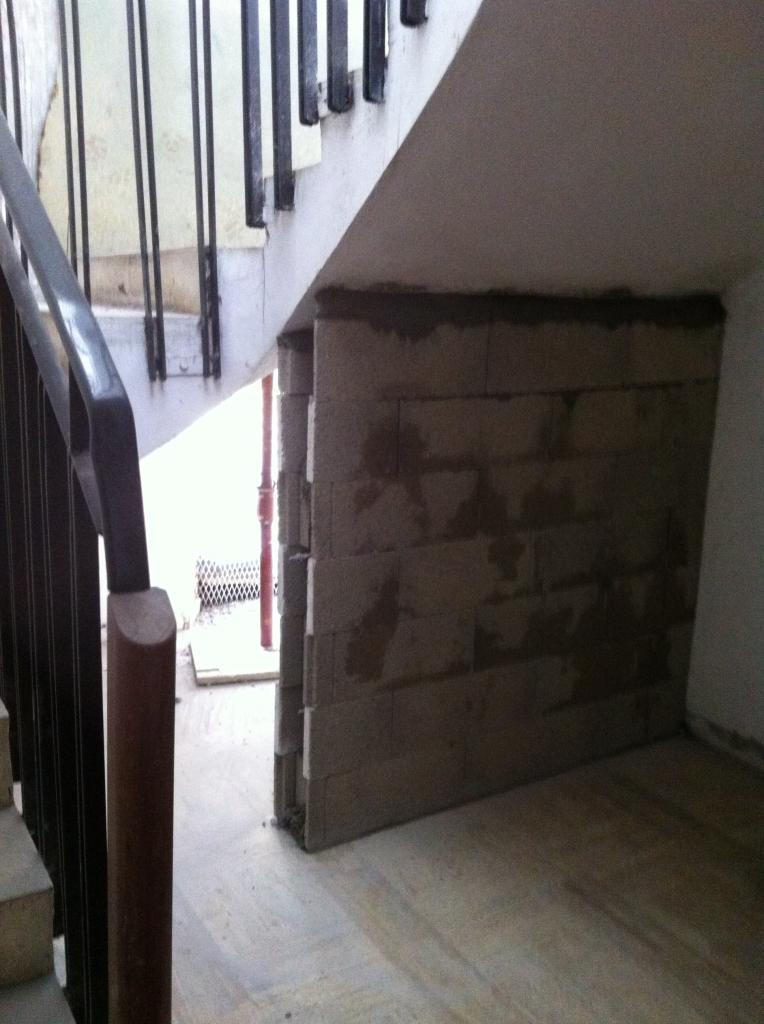 mur soutien escalier