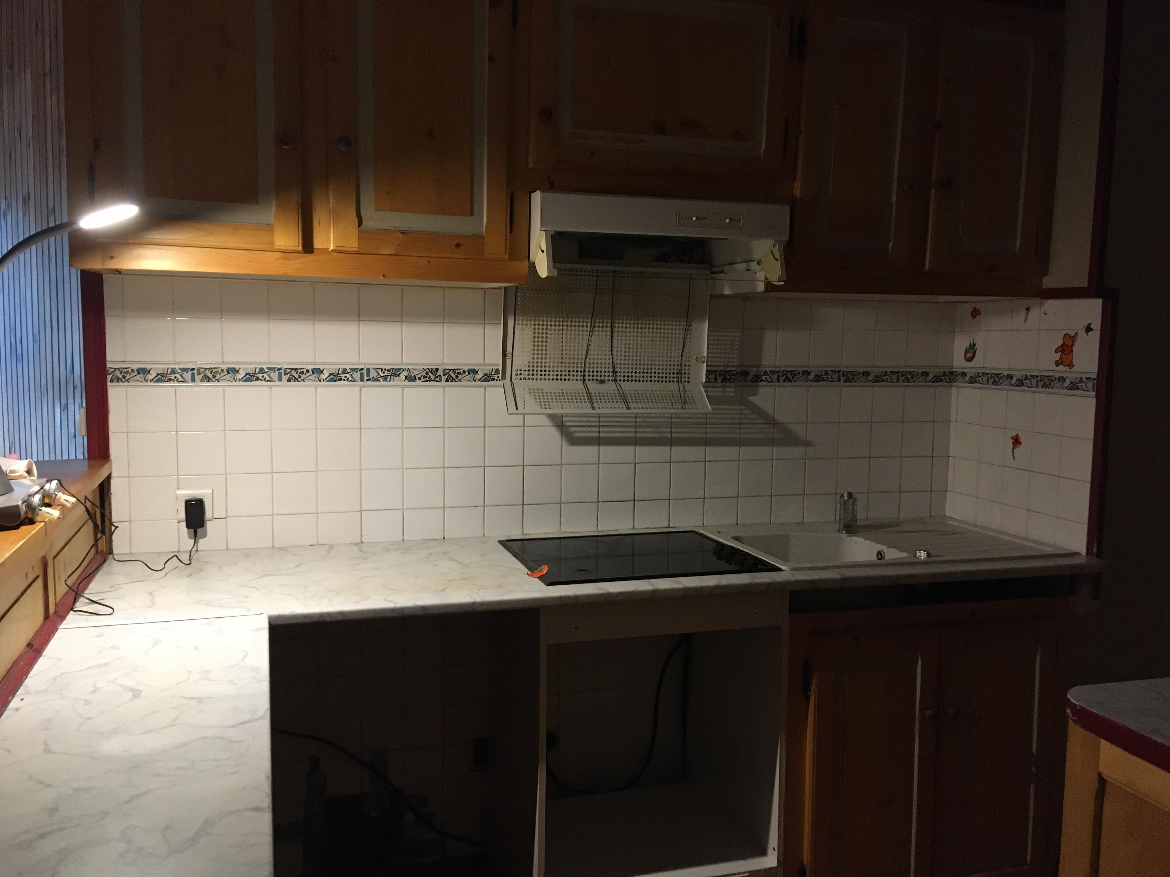 état du plan de travail de la cuisine