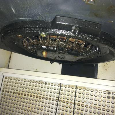état du ventilateur de la hotte aspirante