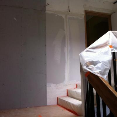 isolation cloison coté escalier (1)