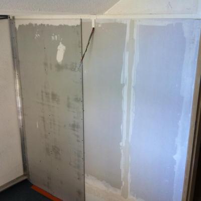isolation cloison coté escalier (2)