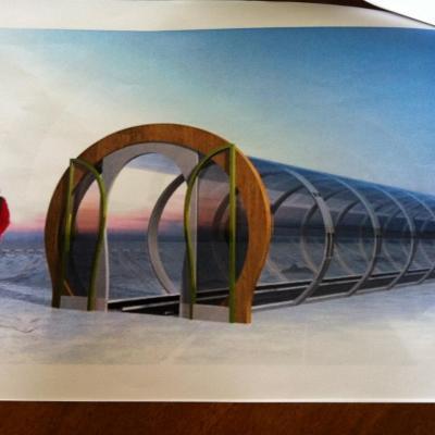 photo du futur tapis roulant sous abri